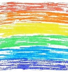 Crayon rainbow background vector