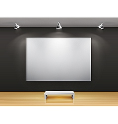dark gallery interior vector image