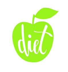 diet hand drawn brush pen lettering isolated on vector image vector image