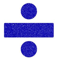 Divide math operation icon grunge watermark vector