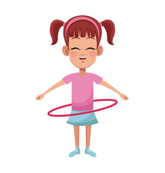 girl cartoon icon vector image