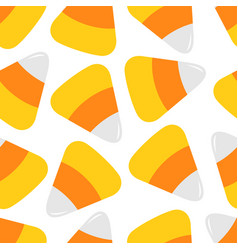 Happy halloween candy corn decoration food vector