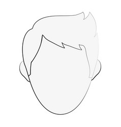 man faceless cartoon vector image vector image