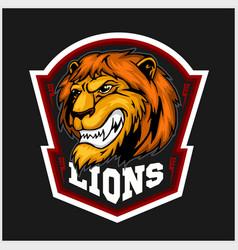 mascot lions - sport team logo template lion head vector image vector image