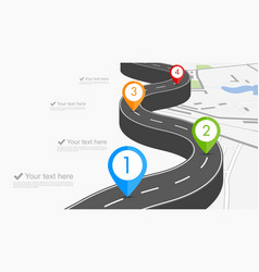 Road infographic vector image