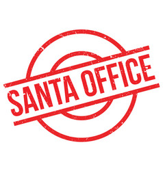 Santa office rubber stamp vector