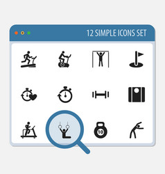 set of 12 editable lifestyle icons includes vector image