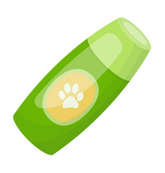 shampoo for animalspet shop single icon in vector image