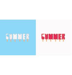 summer ice cream vector image vector image