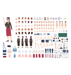 teacher character constructor female lecturer vector image