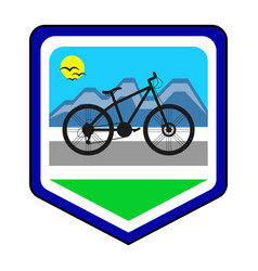 the cycling community logo vector image