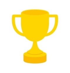 trophy cup winner isolated icon vector image