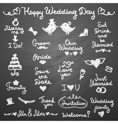 Wedding letterings vector