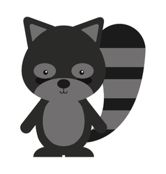 Woodland raccoon animal character cute icon vector