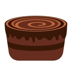 Delicious sweet cake isolated icon vector