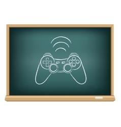 The blackboard gamepad vector image
