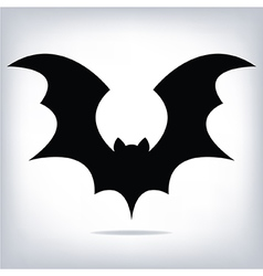 Halloween flying bat silhouettes vector