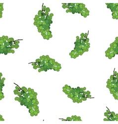 Green grape seamless pattern background Grape wine vector image