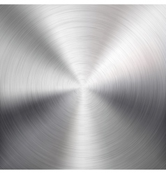 Background with circular metal brushed texture vector