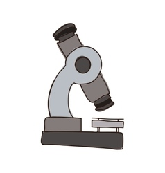 Colorful silhouette of microscope tool vector