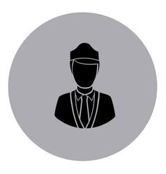 blue emblem guard person icon vector image
