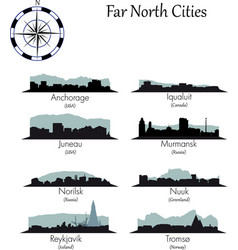 Far north cities collection vector