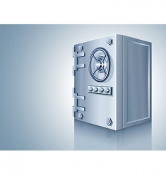 Bank safe for money storage vector