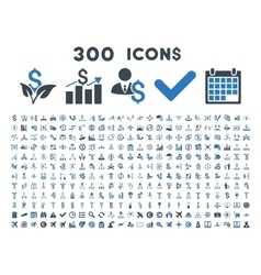 300 flat business icons vector