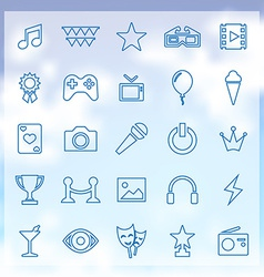 25 entertainment icons vector