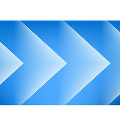 Abstract blue arrows background vector