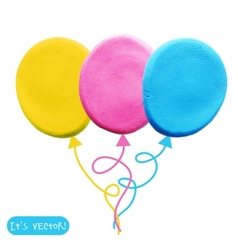 Icon of plasticine balloon vector