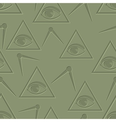 Eye in triangle background vector