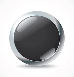 Black button vector