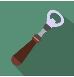 Bottle opener flat icon vector