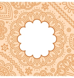 Ugadi day mandala blank template vector