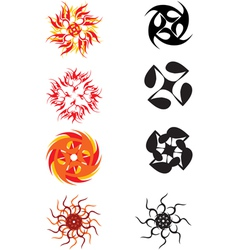 abstract sun symbol vector image vector image