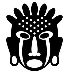 African Masks tribal design vector image