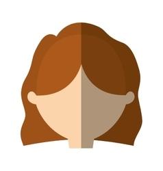 Avatar woman face simple style shadow vector