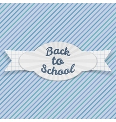 Back to school sale festive emblem with text vector
