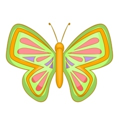 Big butterfly icon cartoon style vector