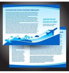 Brochure airplane flight travel air fly airplane vector