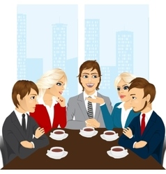 business team discussing new projects vector image vector image