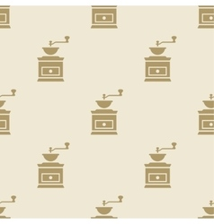 Coffee grinder mill pattern tile background vector