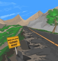 Collapsed road vector
