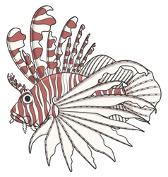 Color image lionfish vector