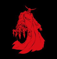 demon vector image