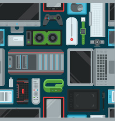 electronic gadgets technology devices computer vector image vector image