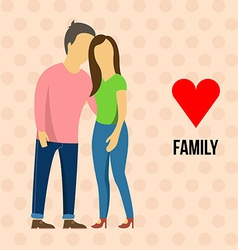 Family with love vector