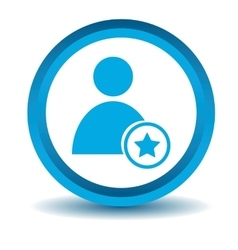 Favorite user icon blue 3d vector