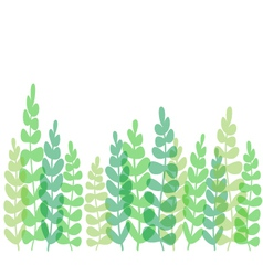 Fern-border-or-card vector